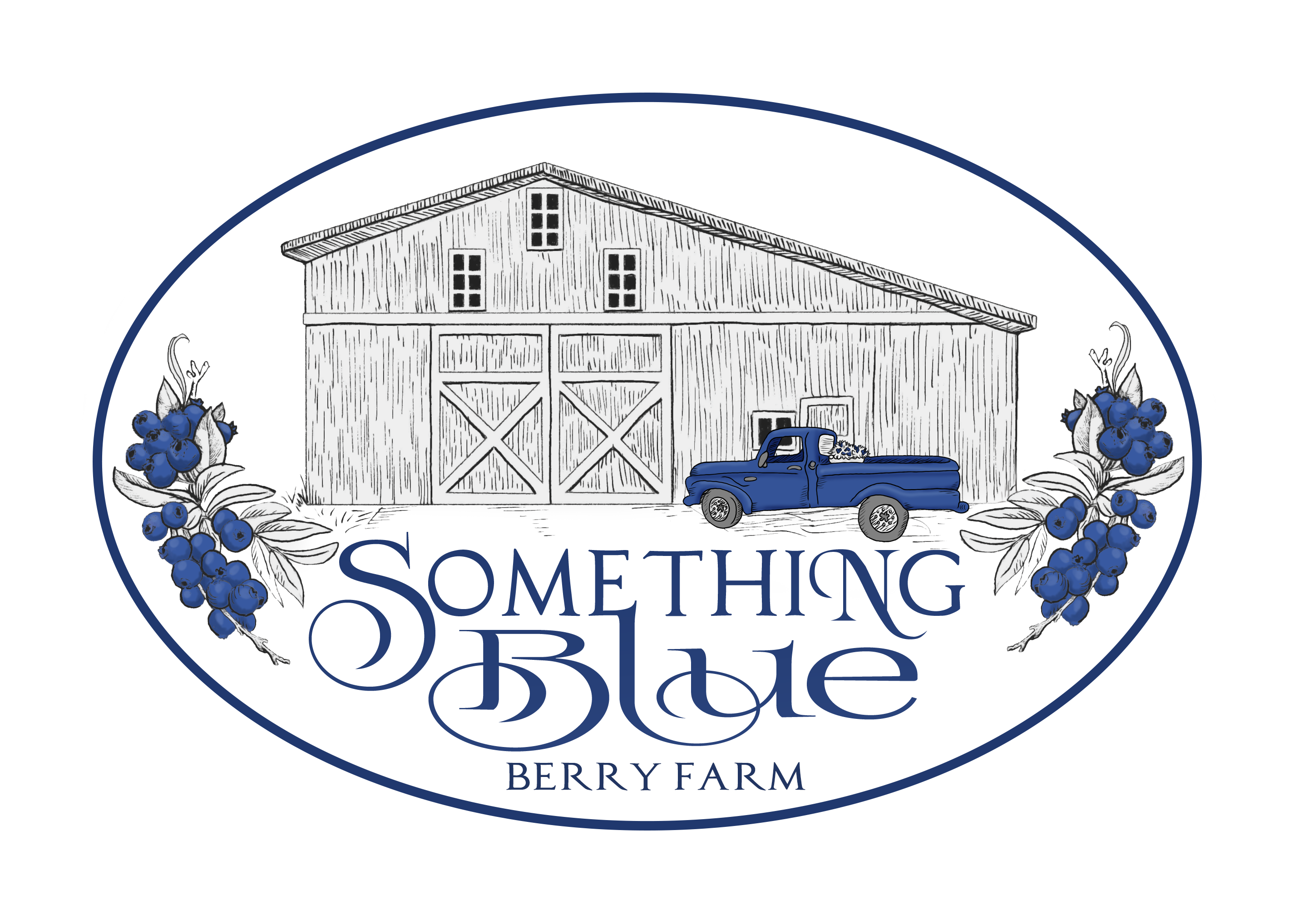 Something Blue Berry Farm Logo