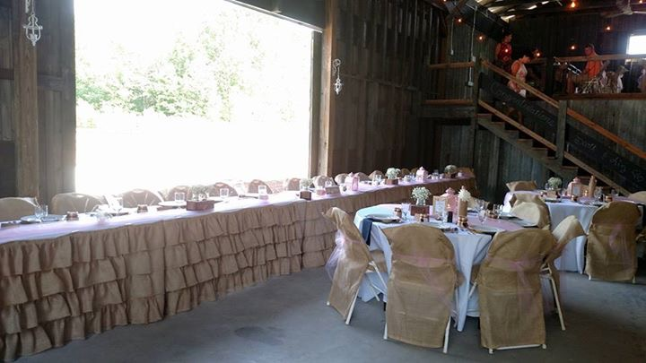 Showing the head table.